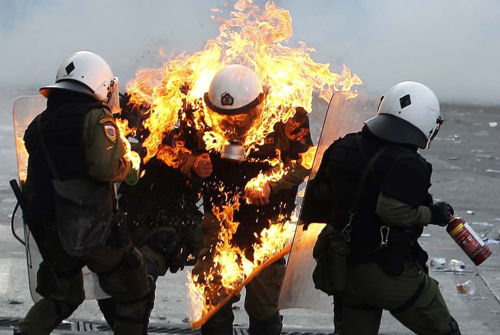 Police on fire
