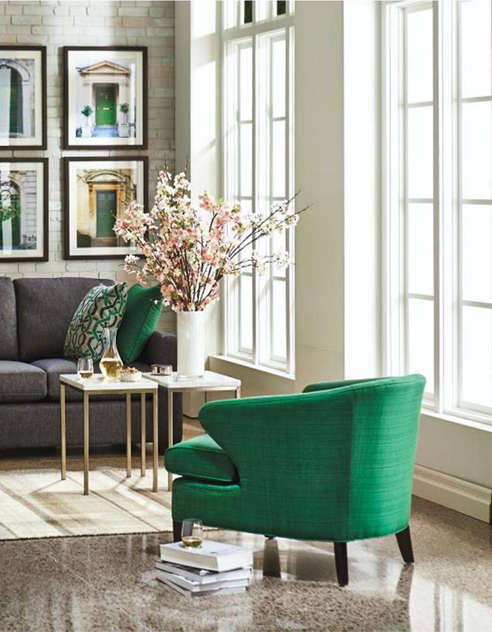 Emerald Green Accent #chair :: #furniture