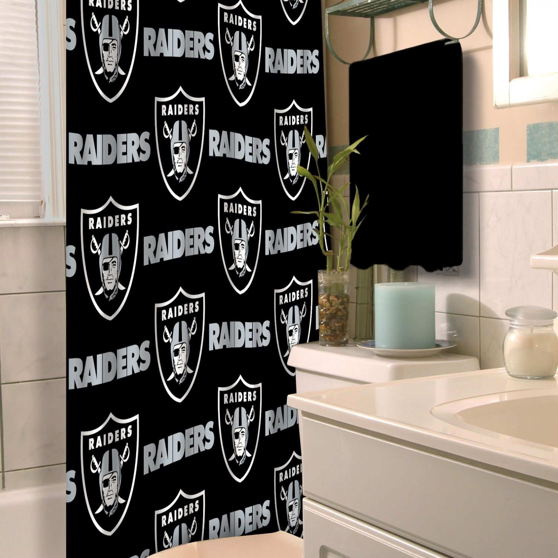 Raiders Official National Football League 72 X 72 Shower