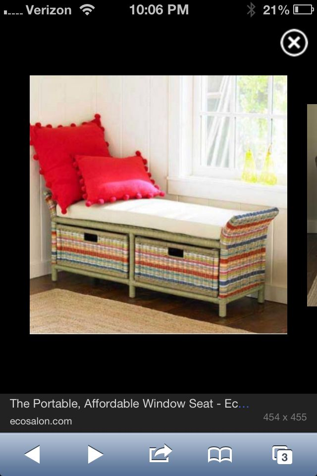 Portable Window Seat Window Seat Storage Home Colour