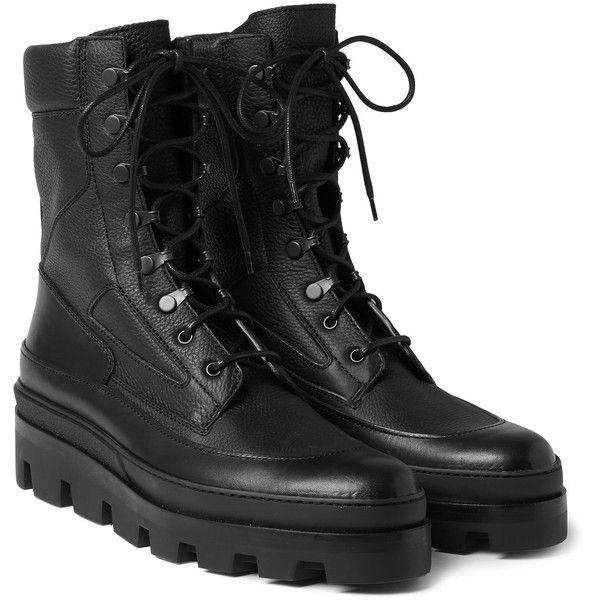 Balenciaga Leather Combat Boots ($845