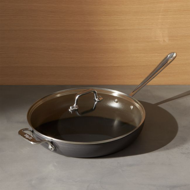 """All-Clad HA1 Hard-Anodized Non-Stick 12"""" Fry Pan with Lid + Reviews 