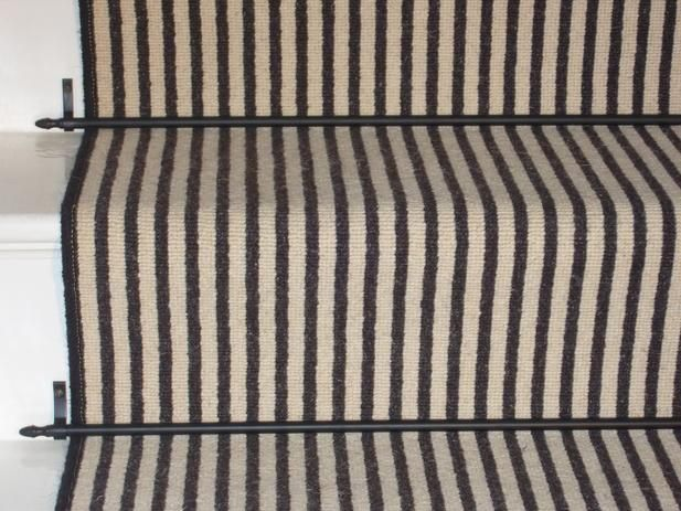 Carpet Stair Runner Black And White Stripe Real Quality
