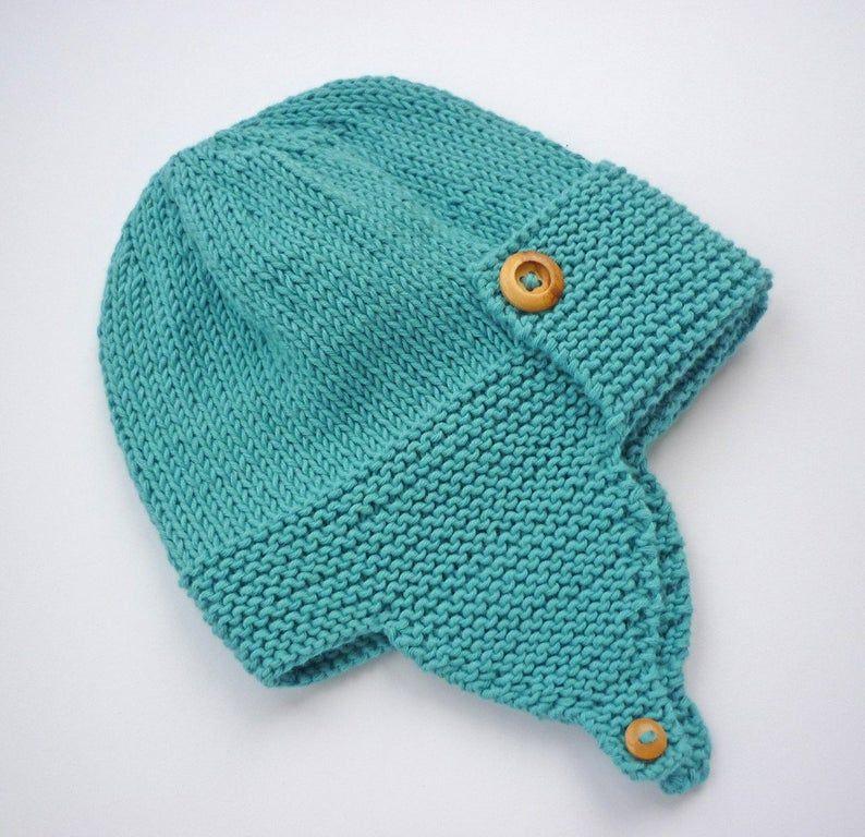 Baby Pilot Hat Knitting Pattern WRIGHT FLYER   Etsy   Baby ...