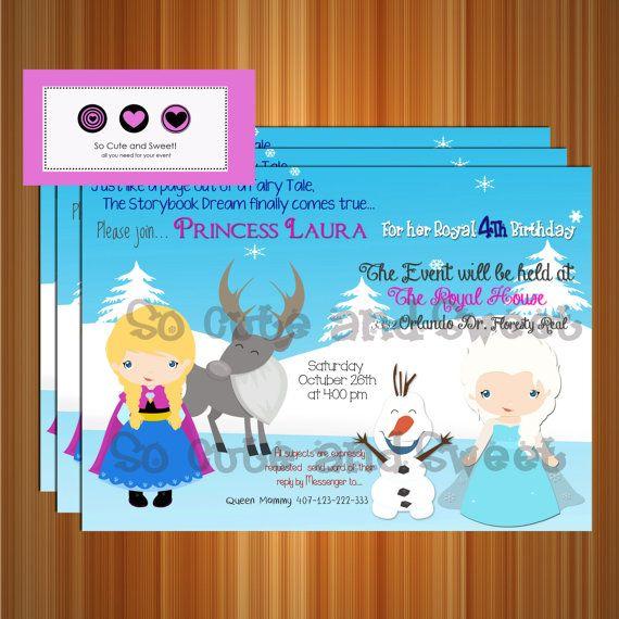Invitacion frozen Frozen disney por socuteandsweet en Etsy