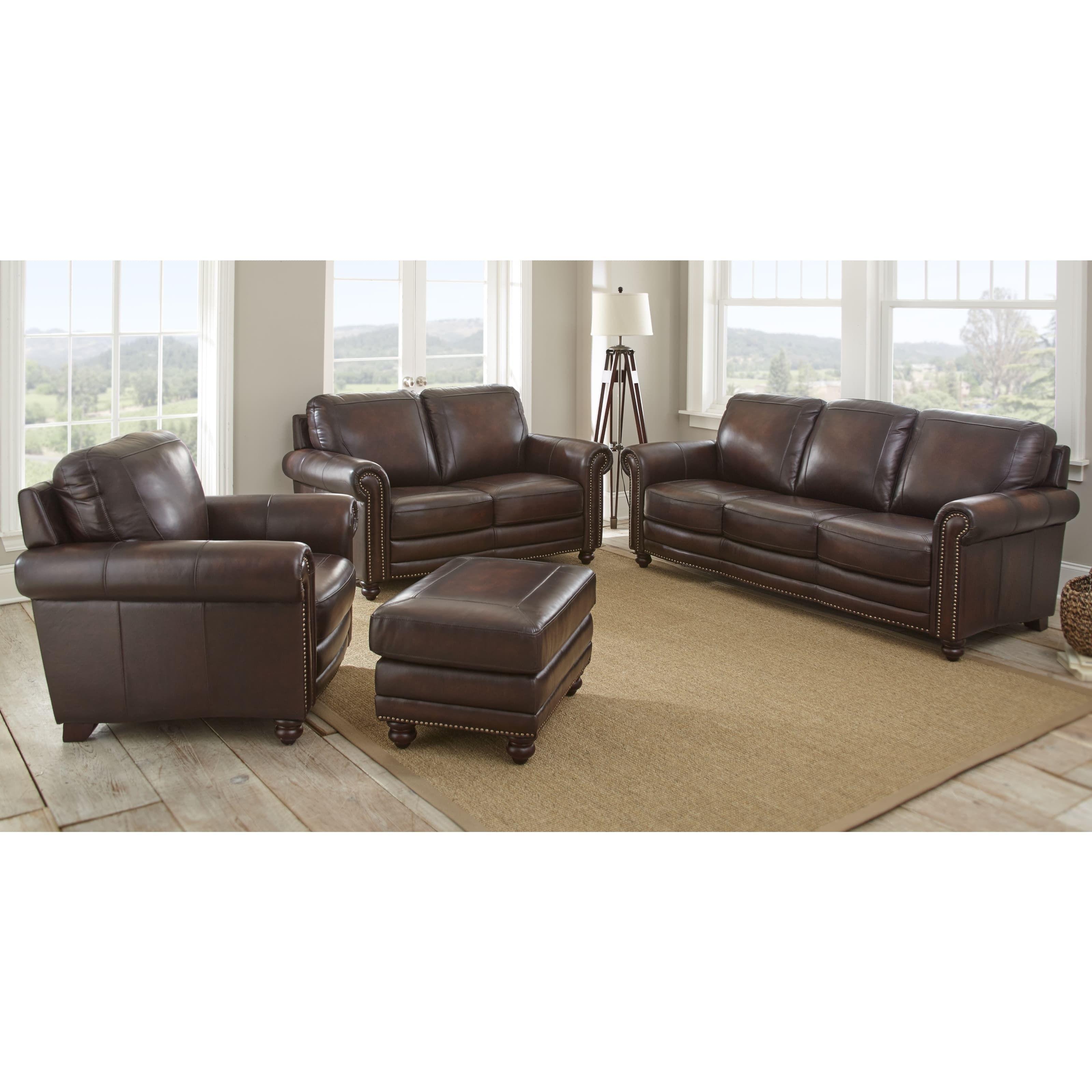 Best Edinburgh 4 Piece Top Grain Leather Living Room Set By 640 x 480