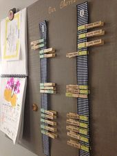 Simple clothes pin chore chart Simple clothes pin chore chart