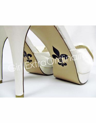5bd0ae87c0ee85 Fleur de Lis Shoe Sticker for Bridal Shoes