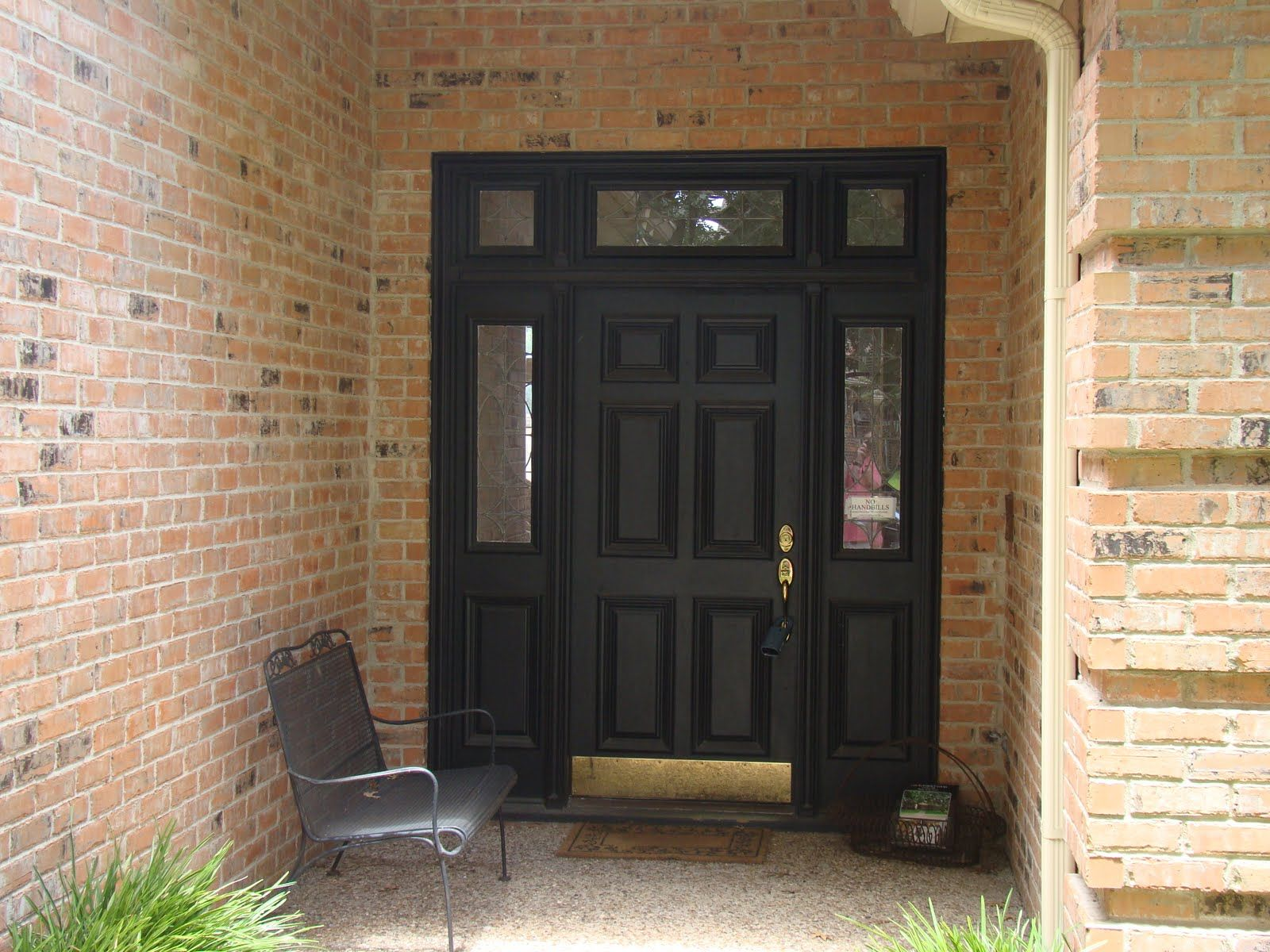 Front Doors For Brick Homes Romantic Domestic Entry Makeover