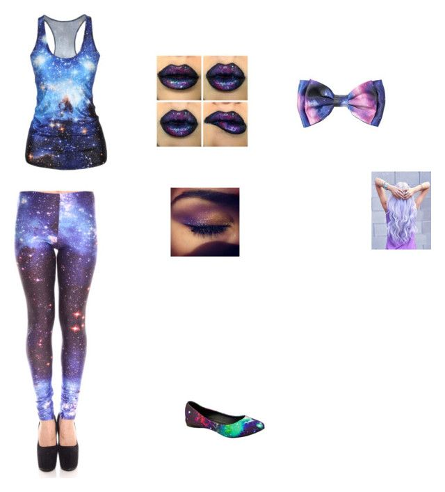"""galaxy!!!!!!!!"" by alice-in-wonderlandboi ❤ liked on Polyvore featuring T.U.K. and Nasty Gal"