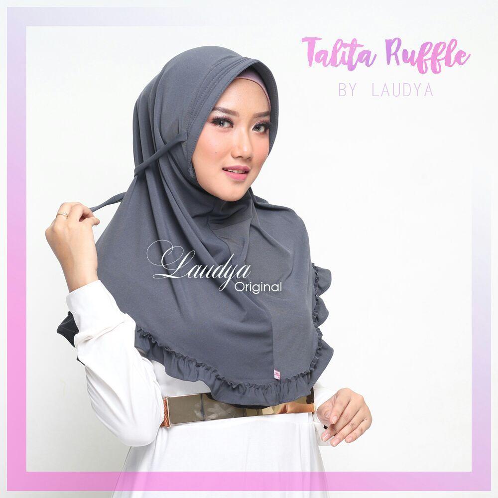 Jilbab Bergo Cantik Terbaru Talita Ruffle Laudya 3 غطاء لراس