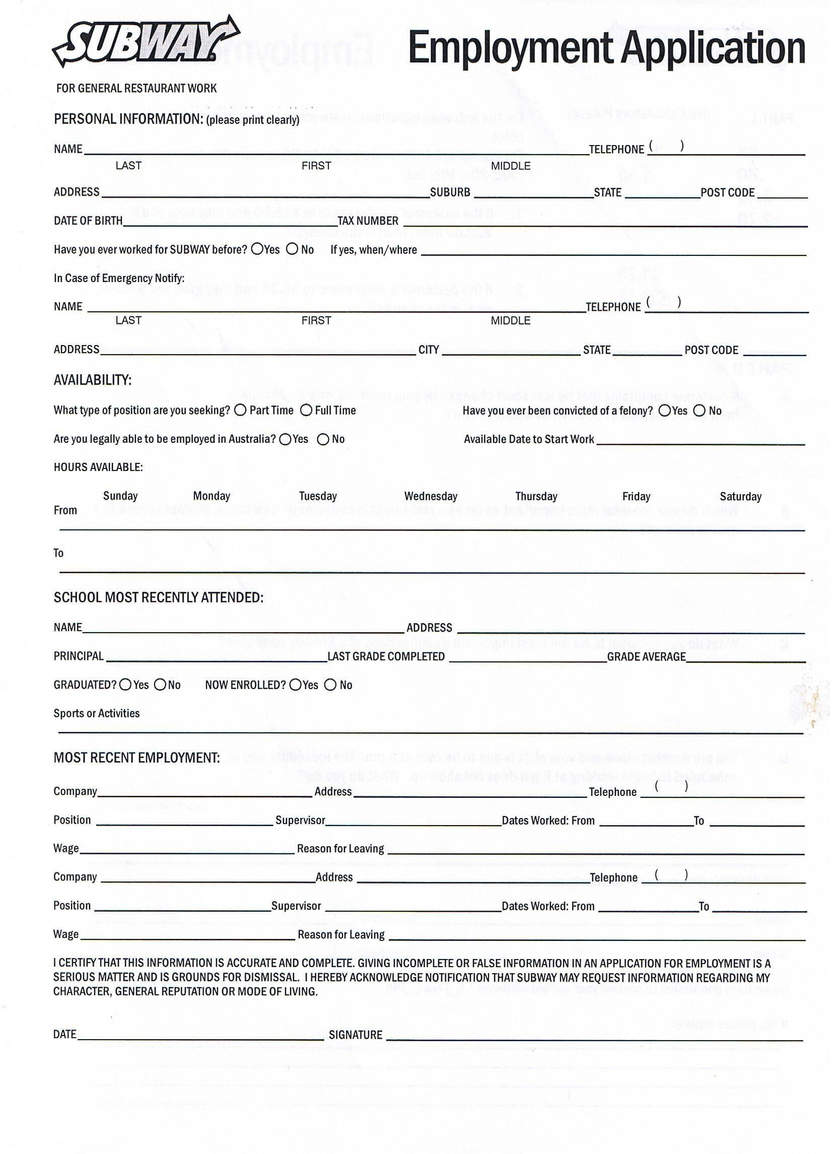28 Download Employment Application form in 2020