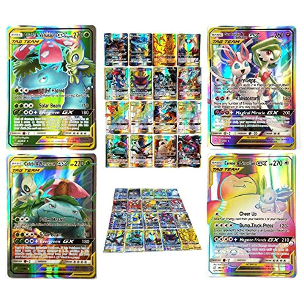 Flyglobal Carte De Pokemon Jeux De Cartes 100 Pcs Pokemon Style