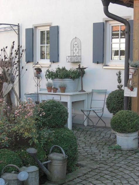 Landliebe cottage garden gartenideen pinterest - Cottage garten terrasse ...