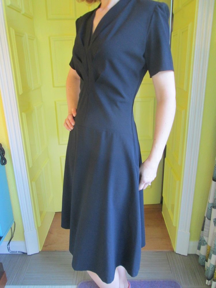 8cd18c79d49 1940 s style classic little black dress made to vintage pattern ...
