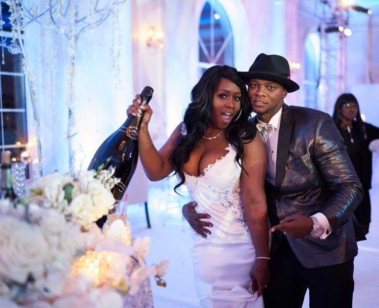 Remy Ma Papoose Wedding Bridesmaids Dresses Blue Celebrity Wedding Photos Black Celebrity Couples