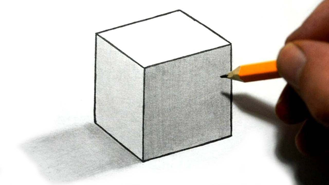 How to draw 3d cube illusion draw step by step for Simple 3d art