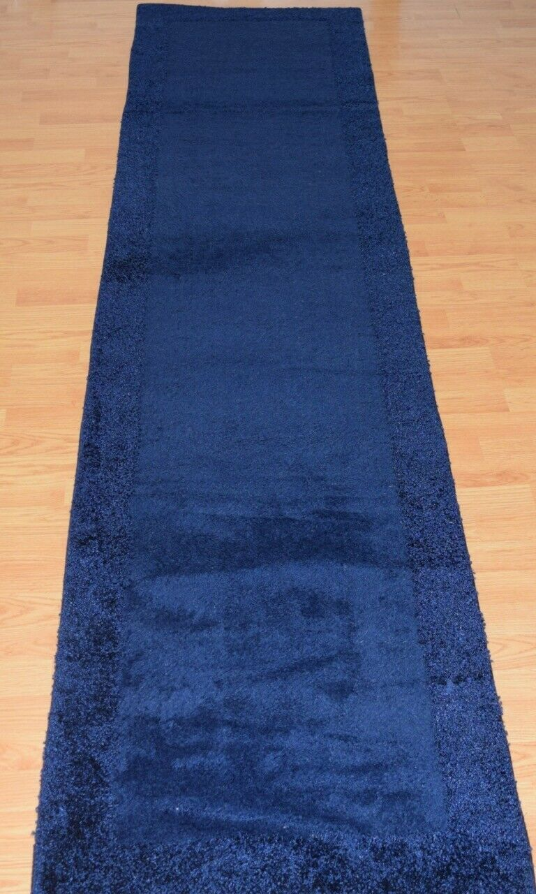 New Rug Shag Border 29 Navy Blue Washable Hall Runner Non Slip Solid 30 99 Washable Rugs Ideas Of Washable Rugs In 2020 Rugs Machine Washable Rugs Washable Rugs