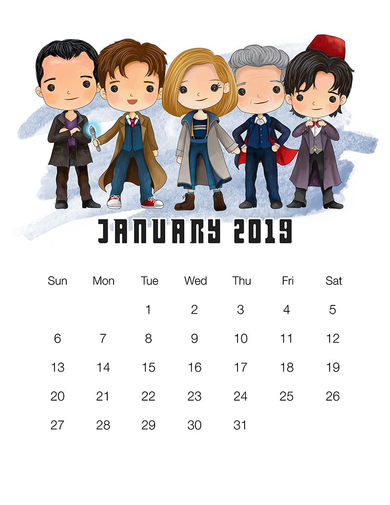 Doctor Who Christmas Special 2019 Free Free Printable 2019 Doctor Who Calendar | AN ORGANIZED LIFE