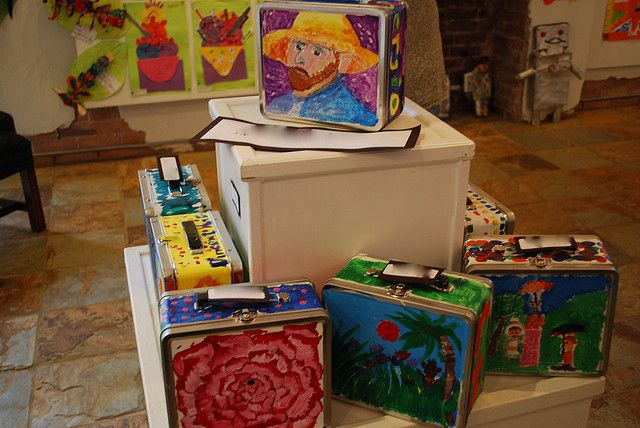 """Famous Artist's lunch box.... play of Judy Chicago's""""The Dinner Party"""" and have a lunch party! by paintedpaper, via Flickr"""