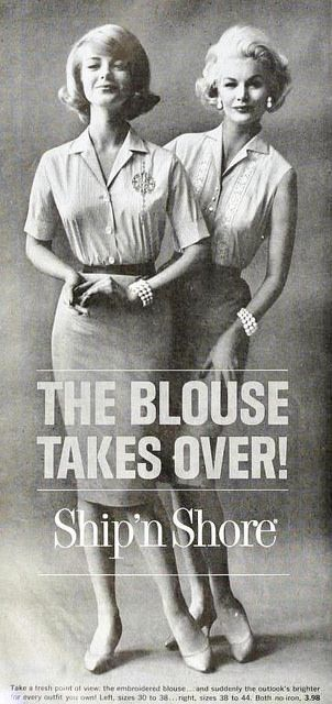 Ship N Shore Blouses May 1961 Vintage 1960s Fashion The 1960s