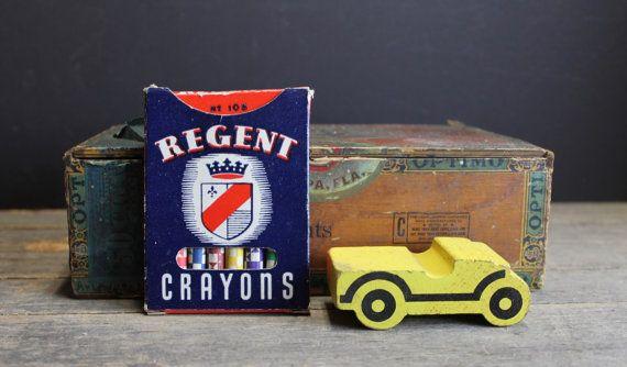 Vintage Regent Crayons Box No. 108 by MyBarn on Etsy
