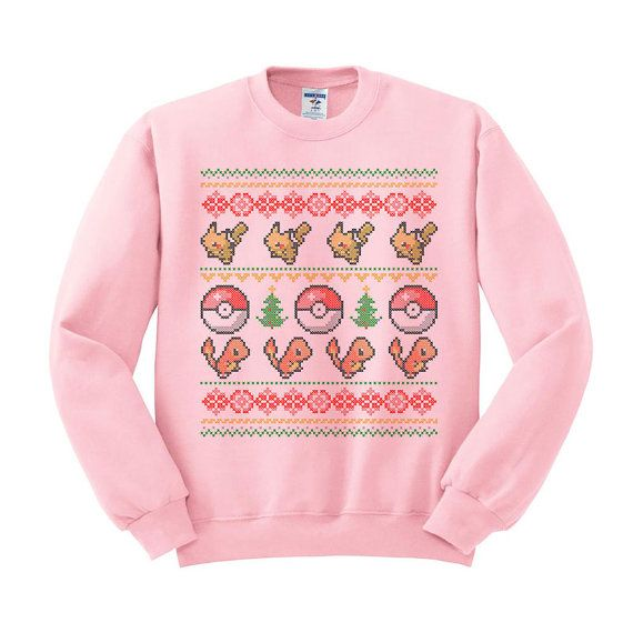 Pokemon Christmas Sweater.Pin On Ugly Christmas Sweaters Every Geek Will Want