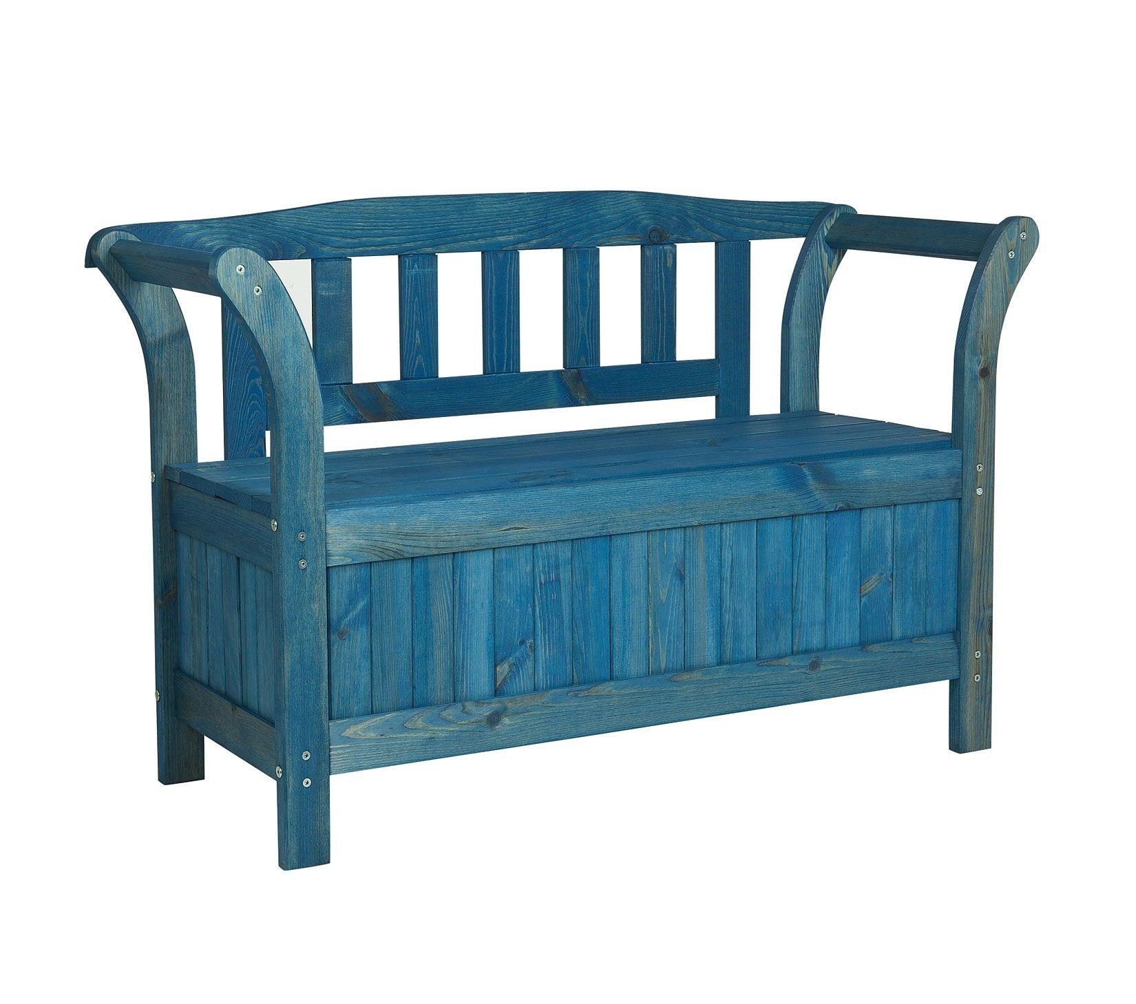 details zu gartenbank truhenbank friesenbank holzbank. Black Bedroom Furniture Sets. Home Design Ideas