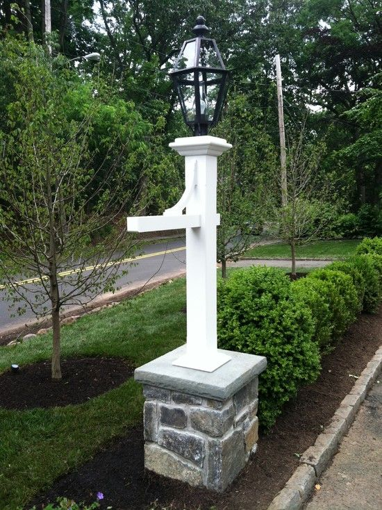 Lamp Post Design Pictures Remodel Decor And Ideas Driveway Landscaping Driveway Design Mailbox Landscaping