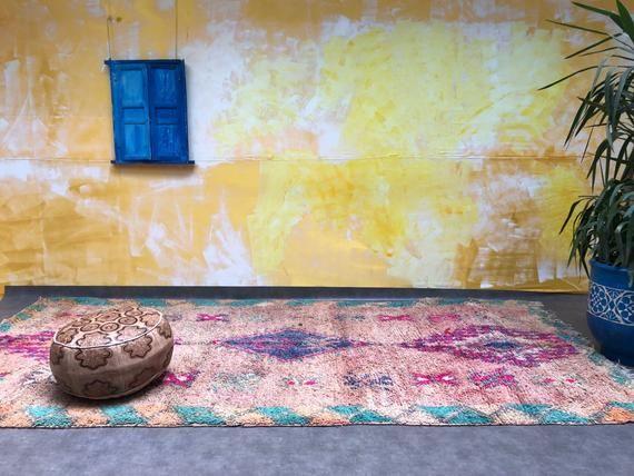 6x12 Antique Moroccan Rug Area Vintage Morocco