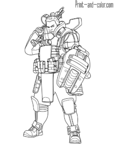 Apex Legends coloring pages (With images) | Coloring pages ...