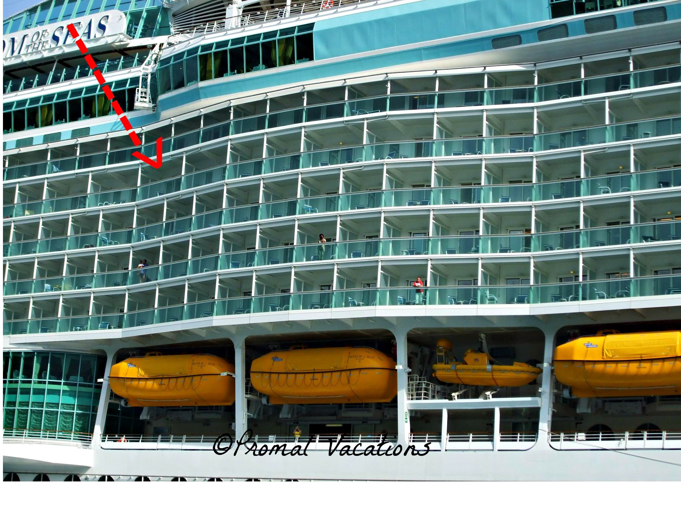Location Of Our Hump Cabin And Look At The Views Later The More To The Center You Can Get The L Freedom Of The Seas Liberty Of The Seas Royal Caribbean