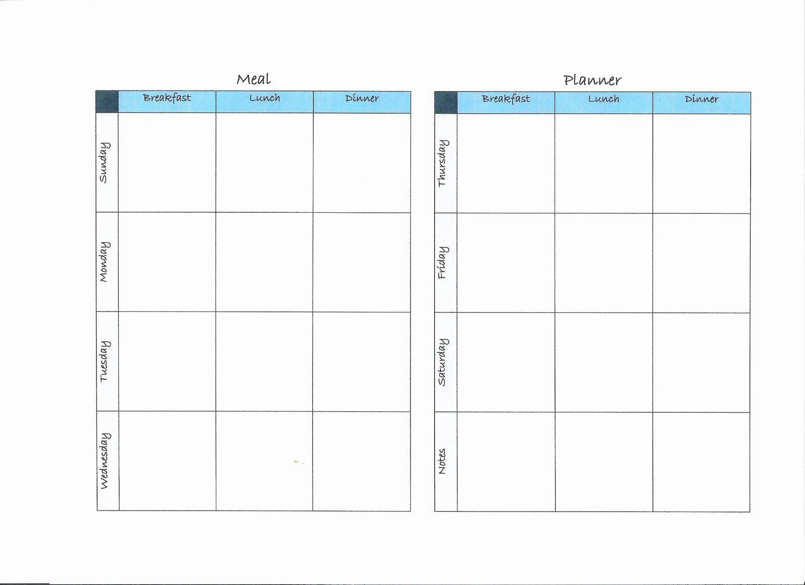 Two Week Meal Planner Template Beautiful Download Free