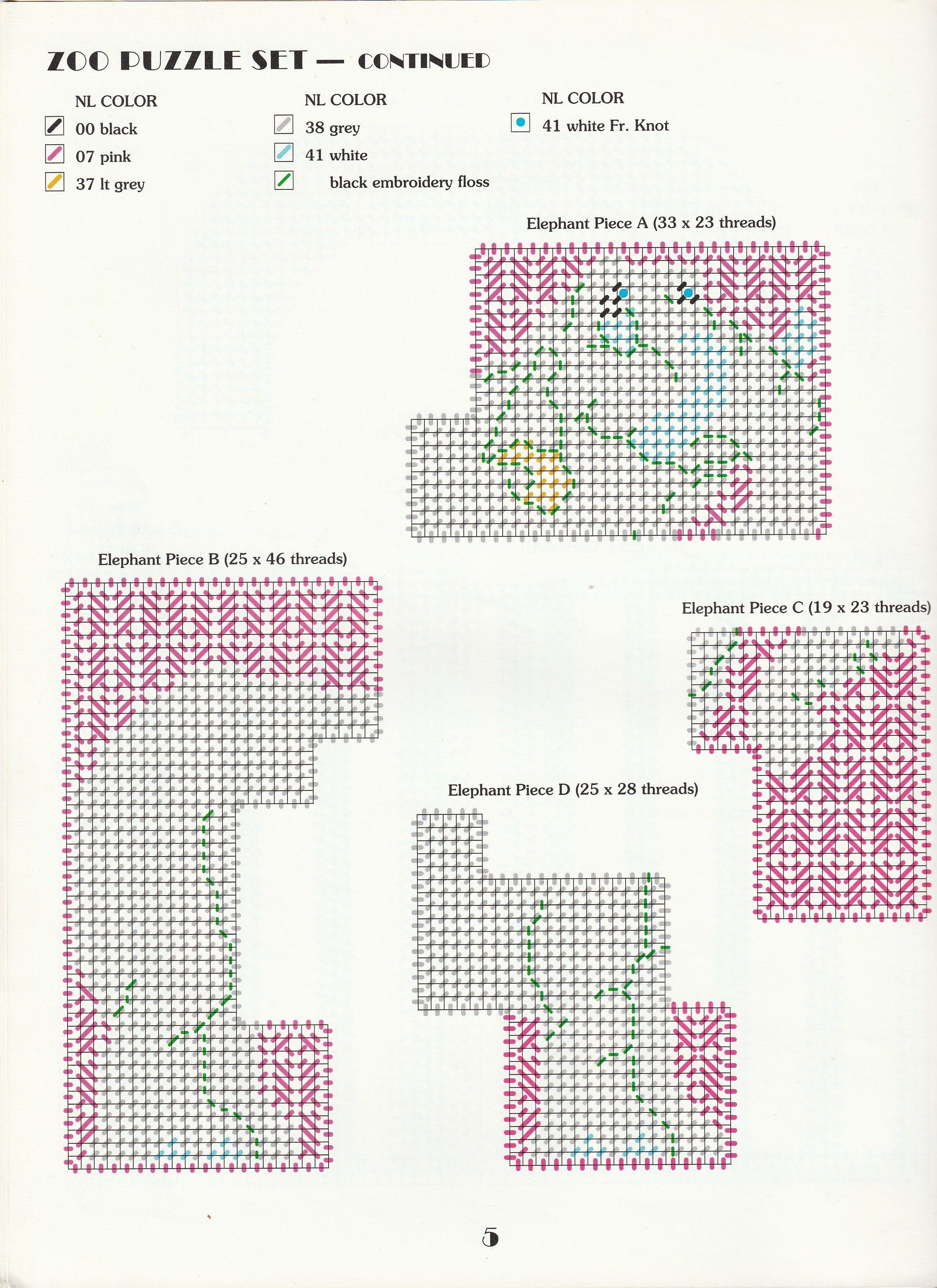BARNFUL OF PUZZLES  ~  plastic canvas pattern  ~  Leisure Arts pattern