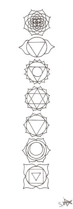 Chakra Symbols Outline Clipart Library