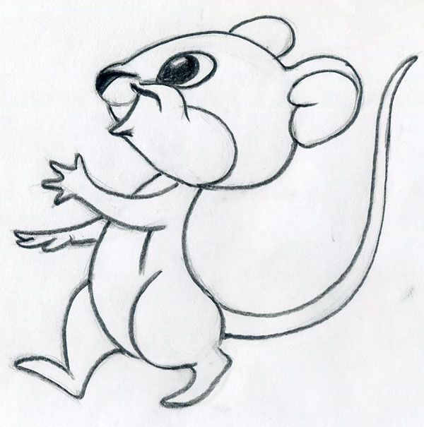 learn how to draw cartoon mouse one of the most popular among cartoon characters - Cartoon Outline Drawings