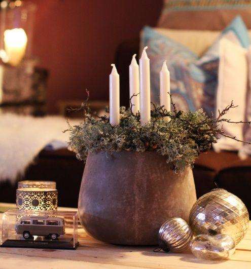 adventskreation 2012 von bunte anna rustikale weihnachten dekoideen weihnachten weihnachtskerzen