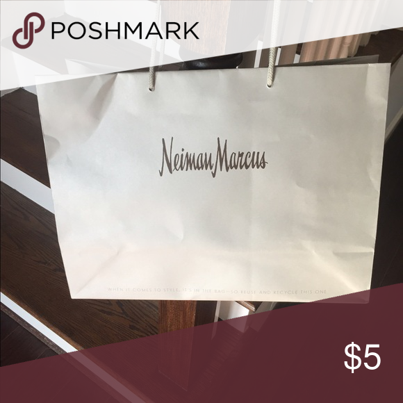 Neiman Marcus Shopping Bag Gray Bags
