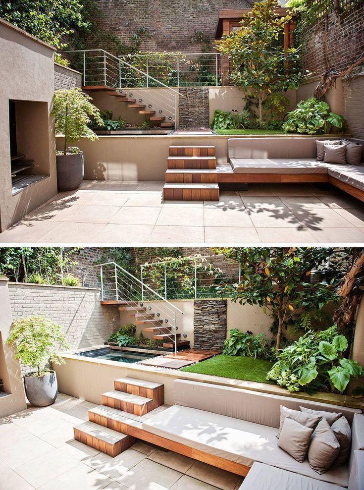 13 arri re cours sur plusieurs niveaux pour vous inspirer. Black Bedroom Furniture Sets. Home Design Ideas