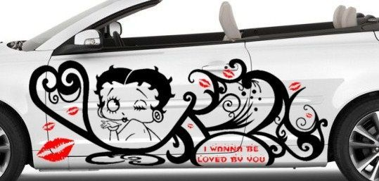 Betty boop decal graphic vinyl w tribal design for side of car betty boop cars and custom cars