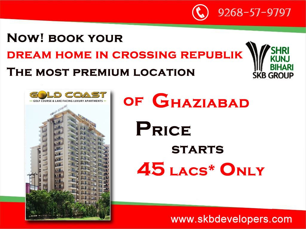 SKB Group offer futuristic lifestyle with fully developed infrastructure, providing every premium amenities and facilities that you can imagine at a very affordable price. Price Starts @45 Lacs* Only  For Details Information Visit – www.skbdevelopers.com  Call us – 9268-57-9797 #RealEstate #ReadytoMove #FlatsInGhaziabad #NH-24 #SKBGroup