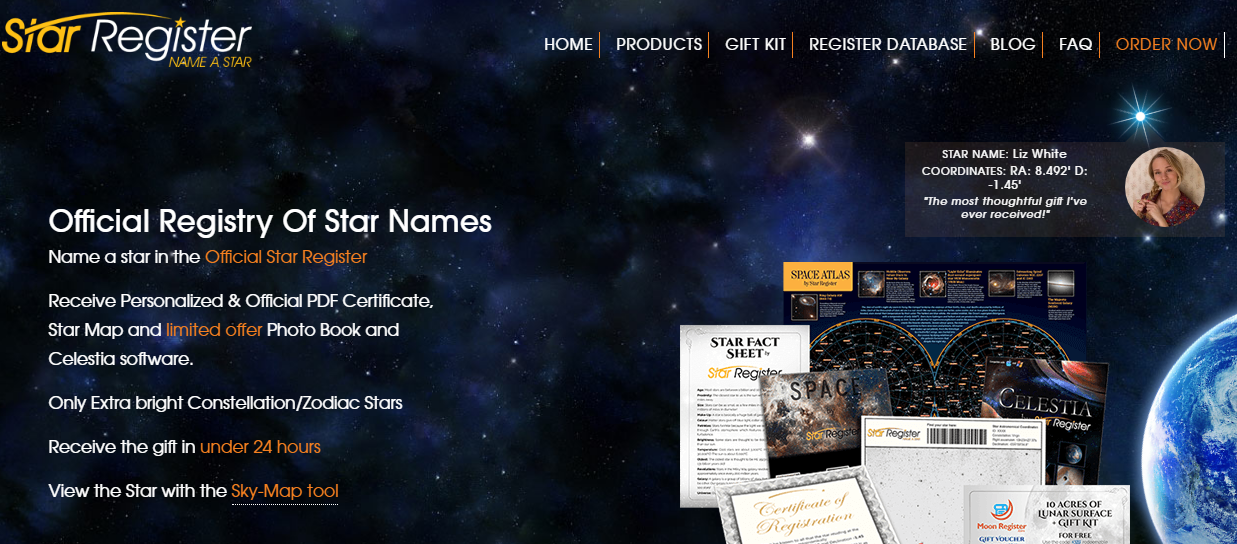 Name A Star In The Official International Star Registry Buy A Star Online And Collect Personalised And Offi Star Registry You Are The Father Star Registration