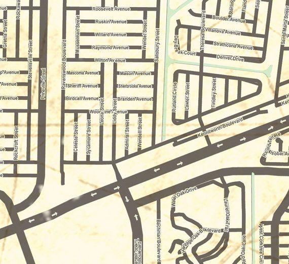 Street Map Port Charlotte Florida.Port Charlotte Fl Canvas Print Florida Vintage Map Port Charlotte Fl