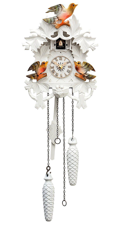 Quartz Cuckoo Clock 8 Leaves 3 Birds Nest Amazon Co Uk Kitchen Home Cuckoo Clock Clock Cuckoo