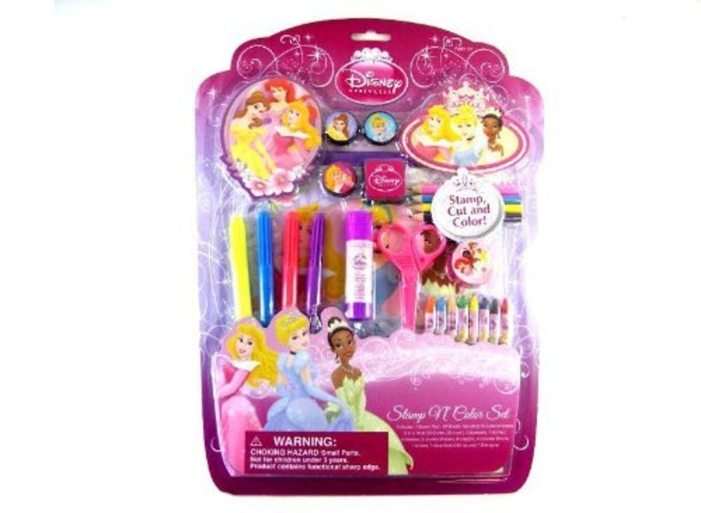 Disney Princess Stamp and Cup Art Set - Princess Art Set ...