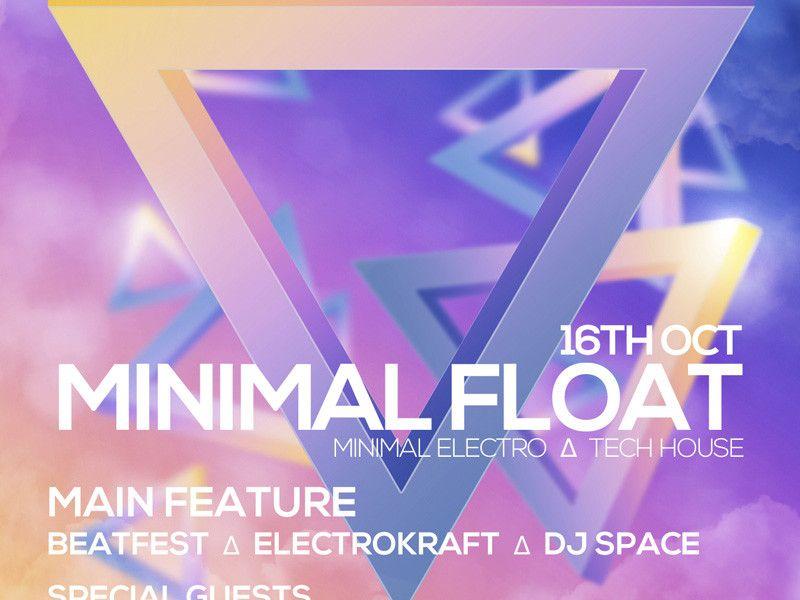 Minimal Float Electro Free Electro Club PSD Flyer Template Flyer - electro flyer