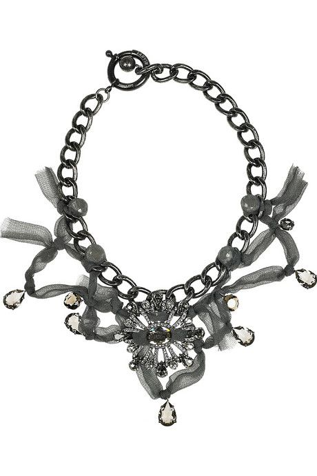 Lanvin necklace - I need to make a knockoff of this baby!
