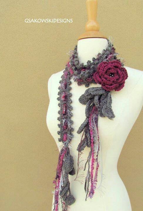 Acessório | Knit & Crochet ❤ Neckwear | Pinterest | Crochet ...