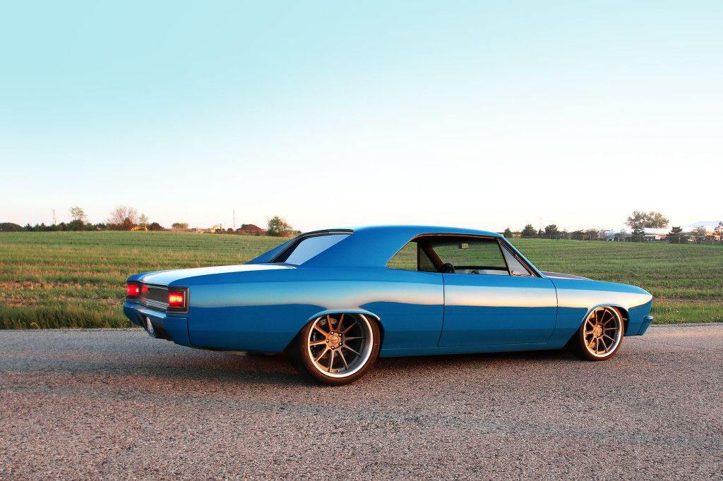 Custom 1966 Chevelle #BecauseSS by the RS pro touring concave wheels