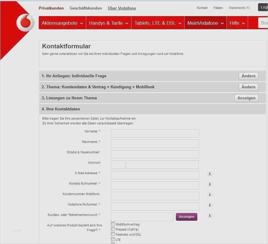40 Inspiration Kundigung Vorlage Vodafone Abbildung In 2020 Handyvertrag Handyvertrag Kundigen Vorlagen